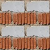 Modello senza cuciture del frammento della parete di pietra rossa e bianca illustrazione vettoriale