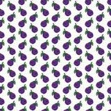 modello senza cuciture del fumetto della prugna divertente Viola-blu della frutta illustrazione vettoriale
