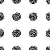 Modello senza cuciture del grande punto Struttura in bianco e nero di modo astratto Fotografie Stock
