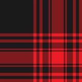 Modello senza cuciture del kilt del nero del tartan di Menzies di struttura rossa del tessuto Fotografia Stock Libera da Diritti
