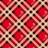 Modello senza cuciture del kilt del tartan di Menzies di struttura diagonale rossa del tessuto Illustrazione di vettore ENV 10 Ne illustrazione vettoriale