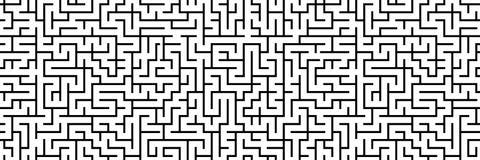 Modello senza cuciture del labirinto di panorama come insegna Fotografia Stock Libera da Diritti