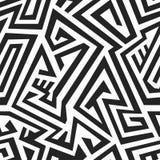 Modello senza cuciture del labirinto monocromatico Fotografia Stock Libera da Diritti