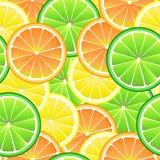 Modello senza cuciture del limone, dell'arancia e della limetta Fotografia Stock
