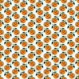 Modello senza cuciture del mandarino arancio illustrazione vettoriale