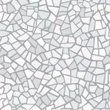 Modello senza cuciture del mosaico astratto grigio chiaro Fondo di vettore Struttura senza fine Frammenti della piastrella di cer illustrazione di stock