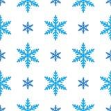 Modello senza cuciture del nuovo anno di inverno con i fiocchi di neve su bianco illustrazione di stock