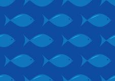 Modello senza cuciture del pesce Immagine Stock Libera da Diritti