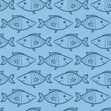 Modello senza cuciture del pesce blu Immagine Stock Libera da Diritti