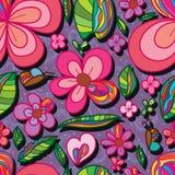Modello senza cuciture del petalo speciale naturale del fiore illustrazione di stock