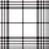 Modello senza cuciture del plaid in bianco e nero del controllo dei pixel illustrazione vettoriale