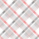 Modello senza cuciture del plaid di tartan in bande di rosso, in bianco e nero Struttura a quadretti del tessuto della saia Campi Fotografie Stock Libere da Diritti