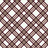 Modello senza cuciture del plaid di tartan Stampa a quadretti di struttura del tessuto in grigio, in taupe, beige e bianco illustrazione di stock