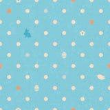 Modello senza cuciture del pois di Pasqua in blu illustrazione di stock