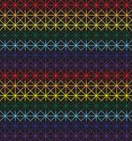Modello senza cuciture del punto croce nei colori dell'arcobaleno Fotografia Stock Libera da Diritti