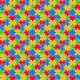 Modello senza cuciture del puzzle variopinto Immagini Stock