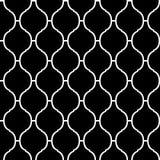 Modello senza cuciture del quatrefoil tradizionale arabo in bianco e nero, vettore Fotografia Stock