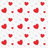 Modello senza cuciture del regalo del cuore dei biglietti di S. Valentino Fotografia Stock Libera da Diritti