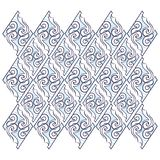 Modello senza cuciture del ricamo geometrico curvy floreale di frattale illustrazione di stock