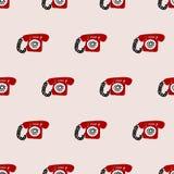 Modello senza cuciture del telefono Fotografia Stock Libera da Diritti