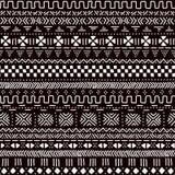 Modello senza cuciture del tessuto africano tradizionale in bianco e nero del mudcloth, vettore Fotografie Stock Libere da Diritti