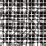 Modello senza cuciture del tessuto di struttura del tartan in bianco e nero del controllo Illustrazione di vettore ENV 10 royalty illustrazione gratis