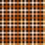 Modello senza cuciture del tessuto a quadretti del tartan in marrone ed in arancio, vettore Immagine Stock
