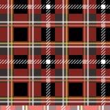 Modello senza cuciture del tessuto tradizionale in bianco e nero rosso del tartan, vettore ENV 10 illustrazione di stock