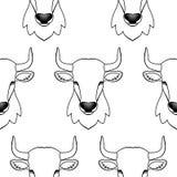 Modello senza cuciture del toro Fotografie Stock Libere da Diritti