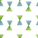 Modello senza cuciture del triangolo dell'acquerello, immagine di vettore immagini stock