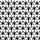 Modello senza cuciture del triangolo della scala di grigi di vettore, fondo royalty illustrazione gratis