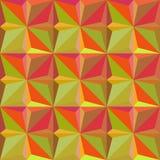 modello senza cuciture del triangolo giallo Progettazione grafica di modo Illustrazione di vettore Struttura astratta alla moda m Fotografia Stock
