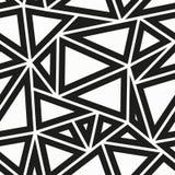 Modello senza cuciture del triangolo monocromatico Immagini Stock Libere da Diritti