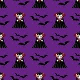 Modello senza cuciture del vampiro royalty illustrazione gratis