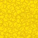 Modello senza cuciture del vello di oro Struttura gialla della ram della pelliccia Fotografia Stock