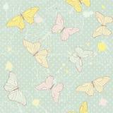 Modello senza cuciture delicato con le farfalle royalty illustrazione gratis