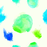 Modello senza cuciture dell'acquerello con i punti Immagine Stock
