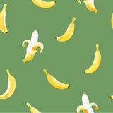 Modello senza cuciture dell'acquerello con le banane Fotografia Stock