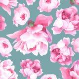 Modello senza cuciture dell'acquerello floreale Fotografia Stock