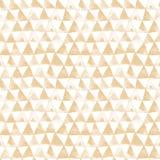 Modello senza cuciture dell'acquerello tribale marrone chiaro dei triangoli immagine stock libera da diritti