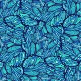 Modello senza cuciture dell'ala della farfalla di arte di zen Immagini Stock Libere da Diritti