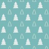 Modello senza cuciture dell'albero di Natale Fotografia Stock Libera da Diritti
