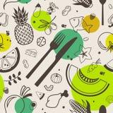 Modello senza cuciture dell'alimento sano: FODMAP senza glutine, senza lattosio, basso illustrazione vettoriale