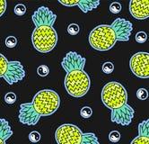 Modello senza cuciture dell'ananas illustrazione di stock
