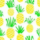 Modello senza cuciture dell'ananas Fondo con la frutta fresca di estate illustrazione vettoriale