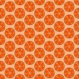 Modello senza cuciture dell'arancia di scarabocchio Fotografie Stock