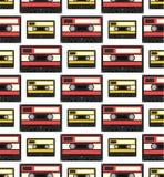 Modello senza cuciture dell'audiocassetta Illustrazione di Stock