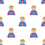 Modello senza cuciture dell'avatar del ragazzo del supereroe Immagini Stock Libere da Diritti