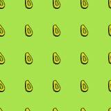 Modello senza cuciture dell'avocado Fotografie Stock Libere da Diritti