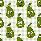 Modello senza cuciture dell'avocado sveglio del fumetto Fotografia Stock Libera da Diritti